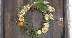 yule wreath tutorial